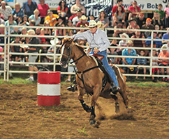 barrel racing.